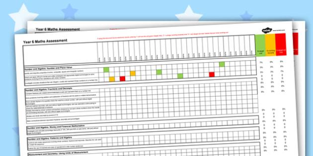 Australian Curriculum Year 6 Maths Assessment Spreadsheet - australia