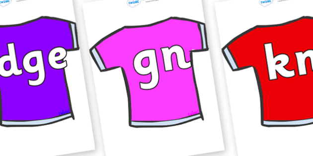 Silent Letters on T-Shirts - Silent Letters, silent letter, letter blend, consonant, consonants, digraph, trigraph, A-Z letters, literacy, alphabet, letters, alternative sounds
