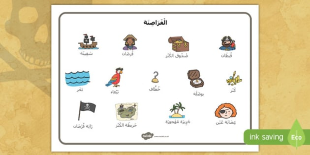 بساط مفردات القراصنة