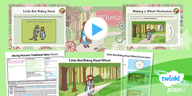 PlanIt - Design and Technology KS1 - Moving Pictures: Traditional Tales Lesson 4: Wheels