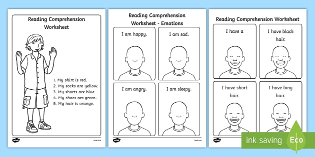 Reading Comprehension Worksheets - reading comprehension