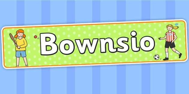 Bounce Themed Banner Welsh - bownsio, header