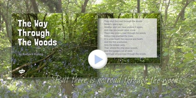 The Way Through the Woods by Rudyard Kipling Poem PowerPoint