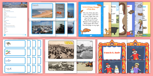 Seaside-Themed Intergenerational Toddler Singing Group Resource Pack - Intergenerational Ideas, seaside, singing, ideas, support, activities, care givers, activity coordin