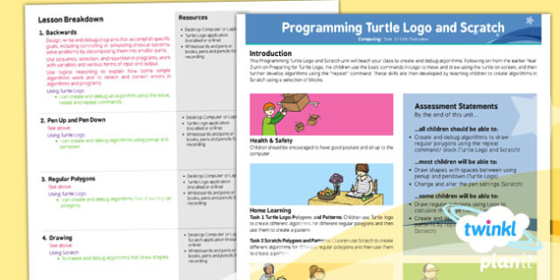 Computing: Programming Turtle Logo and Scratch Year 3 Planning Overview