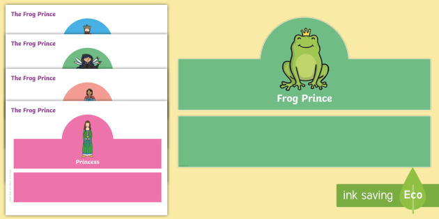 The Frog Prince Role Play Headbands - story, roleplay, stories