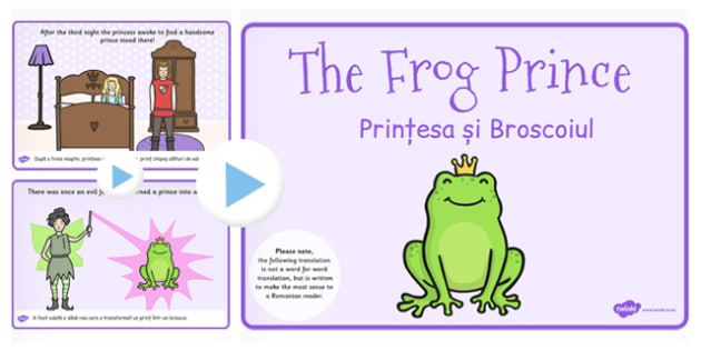 The Frog Prince Story PowerPoint EAL Romanian Translation Version