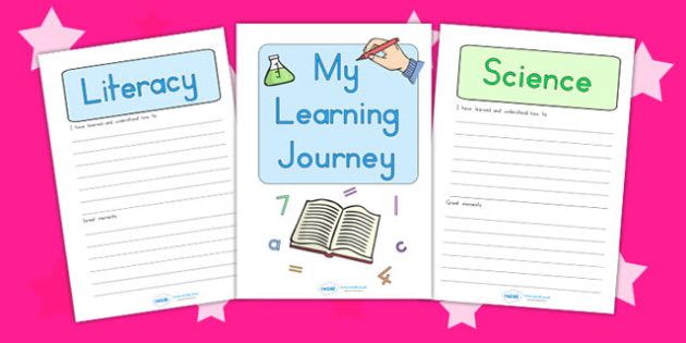 My Learning Journey Folder Headers - learning journey, header