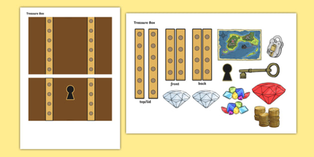 Treasure Box Themed Mug Box Decals Pack - mug box, decals, themed, pack, treasure box