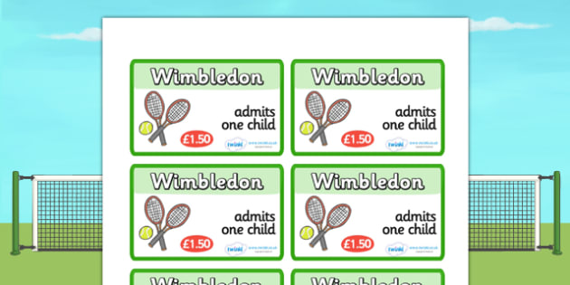 Wimbledon Tickets - wimbledon, wimbledon tickets, wimbledon role play tickets, wimbledon role play, tennis, sports, sports role play, tennis role play