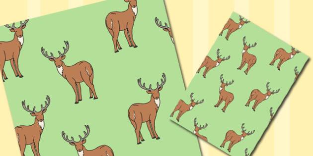 Deer Themed A4 Sheet - deer, themed, a4, sheet, paper, animal