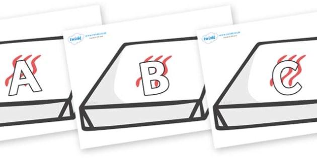 A-Z Alphabet on Boxes - A-Z, A4, display, Alphabet frieze, Display letters, Letter posters, A-Z letters, Alphabet flashcards