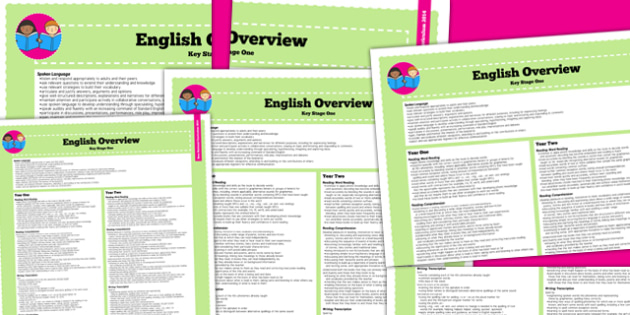 2014 Curriculum KS1 English Overview - new curriculum, literacy