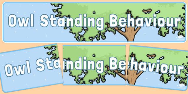 Owlstanding Behaviour Display Banner - owlstanding, outstanding, owl, behaviour, display