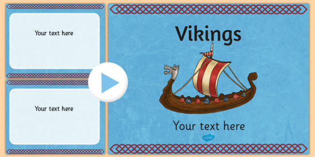 Vikings Themed PowerPoint Template - Vikings, Slides, Template