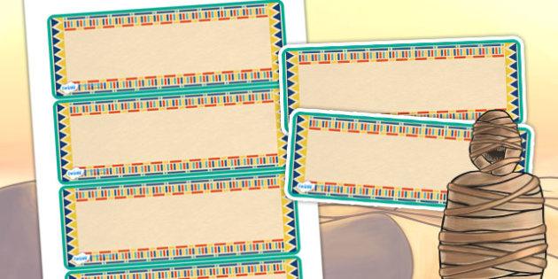 Ancient Egyptian Themed Editable Labels - egypt, ancient egypt
