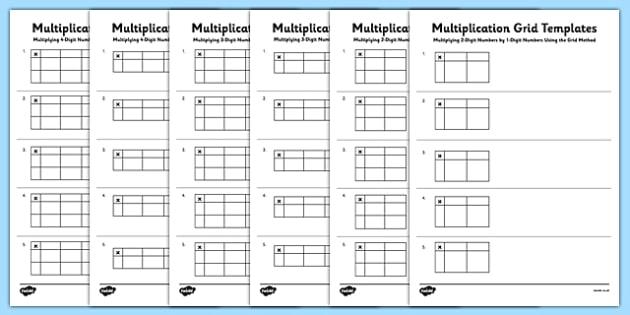 Blank Multiplication Grid Templates Multiplication grid – Multiplication Grid Worksheet Ks2