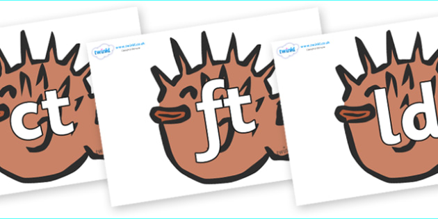 Final Letter Blends on Puffer Fish - Final Letters, final letter, letter blend, letter blends, consonant, consonants, digraph, trigraph, literacy, alphabet, letters, foundation stage literacy