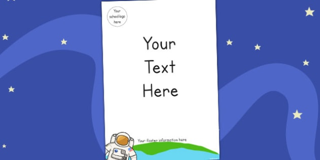 Space Editable Themed Letter Home Letter Header - writing aid