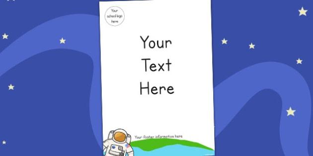 Space Editable Themed Letter Home Letter Header - Australia