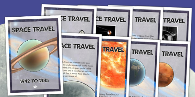 Space Travel Timeline Posters - space, travel, timeline, posters
