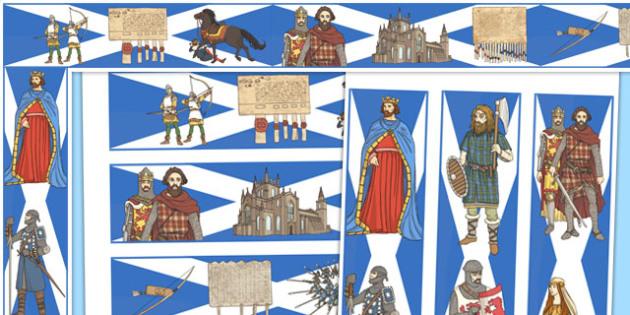 The Scottish Wars of Independence Display Borders - scottish