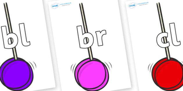Initial Letter Blends on Yoyo - Initial Letters, initial letter, letter blend, letter blends, consonant, consonants, digraph, trigraph, literacy, alphabet, letters, foundation stage literacy