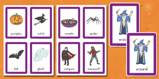 Halloween Pairs Matching Game - american, US, comparing, fun activity, KS1, early years