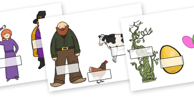 Editable Self Registration Labels (Jack and the Beanstalk) - Self registration, Jack and the Beanstalk, register, editable, labels, registration, child name label, printable, traditional tales, tale, fairy tale, Jack, giant, beanstalk, beans, golden