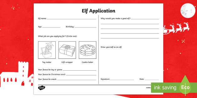 Elf Application Activity Sheet