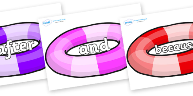 Connectives on Inflatable Rings - Connectives, VCOP, connective resources, connectives display words, connective displays