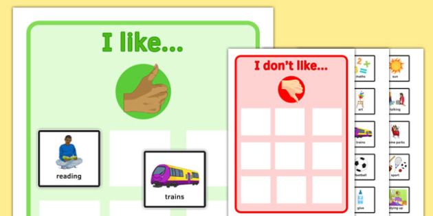 KS3 All About Me - ks3, all about me, myself, likes, dislikes, food, activities, places, sen