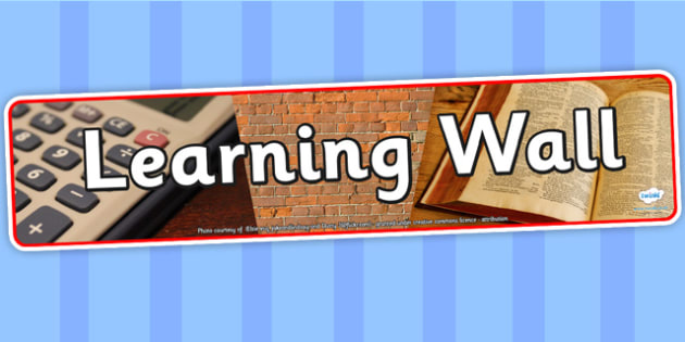 Learning Wall Photo Display Banner - learning wall, display, photo banner, banner, display banner, display header, themed banner, photo display, photos