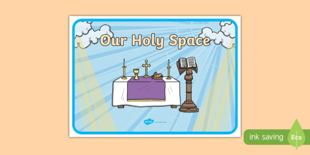 Our Holy Space Display Poster-Irish
