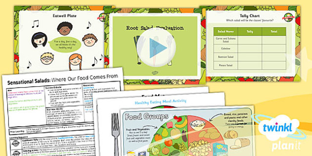 D&T: Sensational Salads: Root Salad Evaluation KS1 Lesson Pack 2