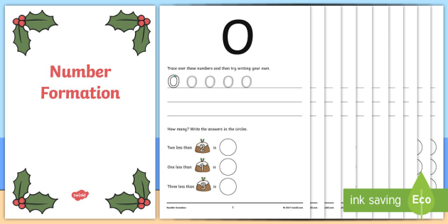 Australia Sunny Christmas Number Formation Workbook - christmas, number, overwriting