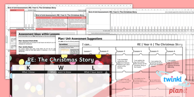 RE: The Christmas Story Year 6 Unit Assessment Pack