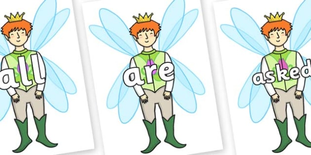 Tricky Words on Fairy Prince - Tricky words, DfES Letters and Sounds, Letters and sounds, display, words