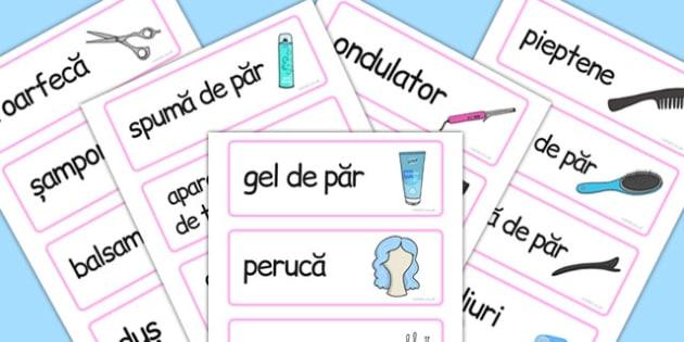 La coafor, cartonase cu imagini si cuvinte, joc de rol, Română