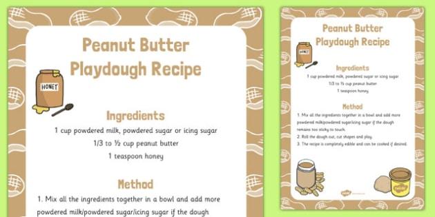 Peanut Butter Playdough Recipe - peanut butter, playdough, recipe