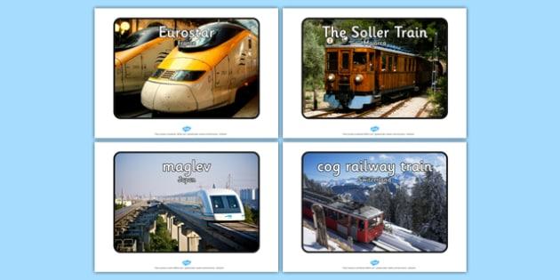 Trains Around the World Display Photos - trains, world, display