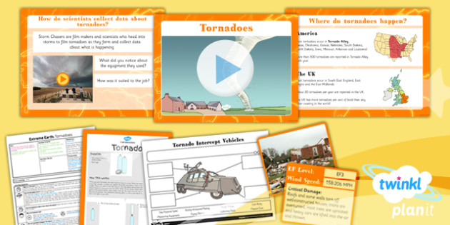 Geography: Extreme Earth: Tornadoes Year 3 Lesson Pack 6