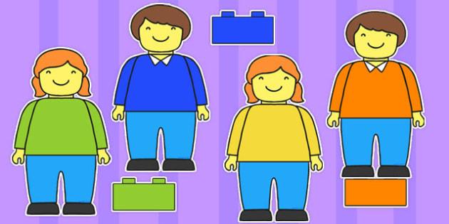 Editable Multicolour Building Brick Figures - building, brick