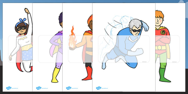 Editable Superheroes - Superhero, superheroes, display, editable, label, topic, story