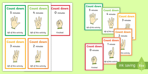Count Down Cards Colour Coded - colours, visual, display, poster