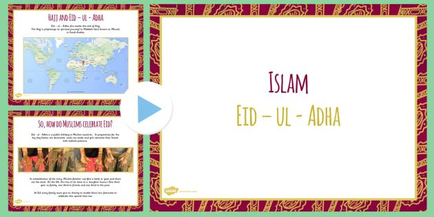 Eid Al-Adha PowerPoint KS2 - islam, religion, muslim, festival