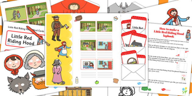 Little Red Riding Hood Lapbook Creation Pack - lapbooks, pack