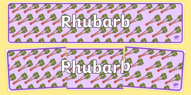 Rhubarb Display Banner - rhubarb, display banner, display, banner, plants and growth