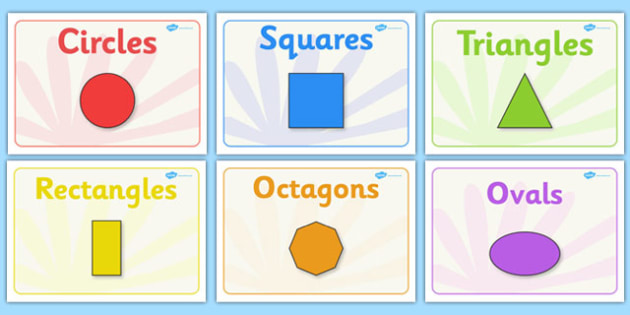 Image result for 2-d shapes with labels