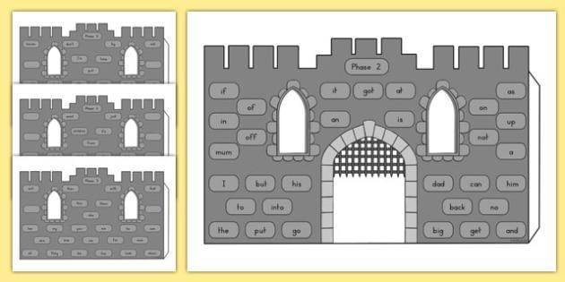High Frequency Words 3D Castle Visual Aid - australia, visual aid, castle